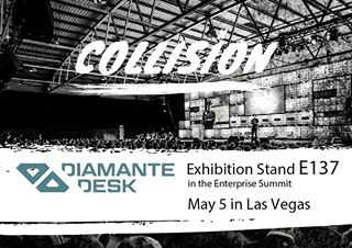 DiamanteDesk exhibited at Collision Conference in Las Vegas